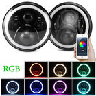 kualitas baik Lampu Mobil Bar & Bluetooth Control RGB Halo Car Lights Color Changing Angel Eyes Headlight Dijual